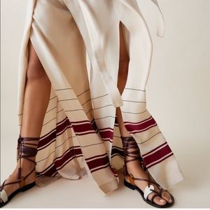 ZARA Studio Edition Leather Strappy Sandals sz 41